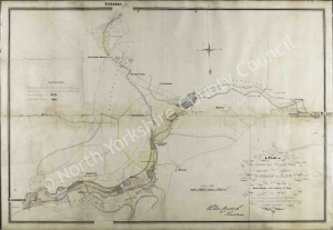 Historic plan of the Turnpike Road from Richmond to Reeth 1835